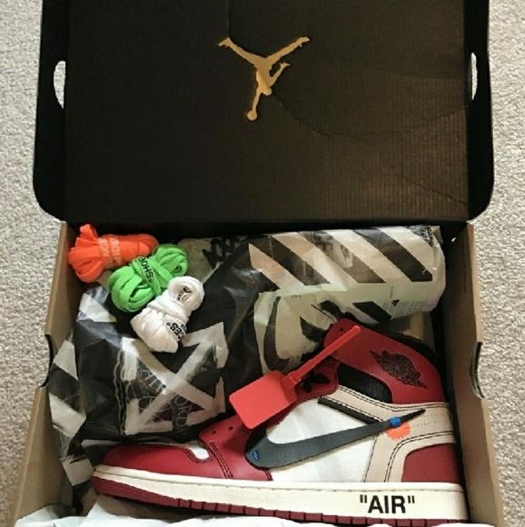 the best attitude 84f20 3c23c Nike Air Jordan 1 X Off White size 10